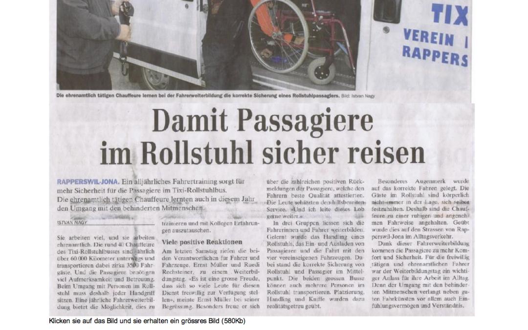 Damit Passagiere im Rollstuhl sicher reisen